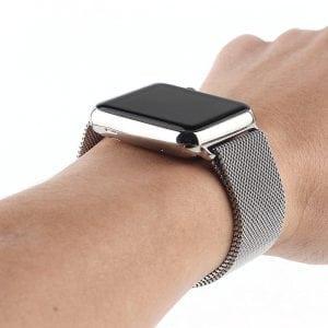Milanese Loop rvs zilver bandje voor de Apple Watch 42mm-012