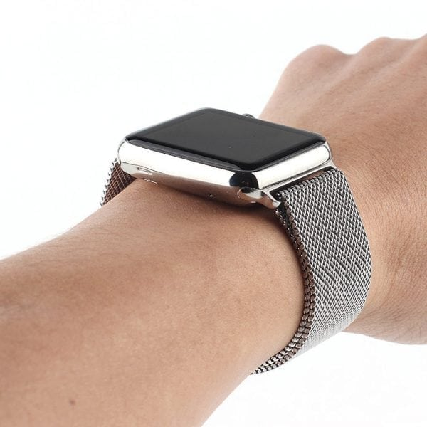Milanese Loop rvs zilver bandje voor de Apple Watch 42mm-012