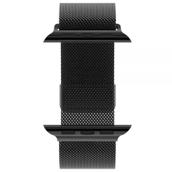 Milanese Loop rvs zwart bandje voor de Apple Watch 42mm-001