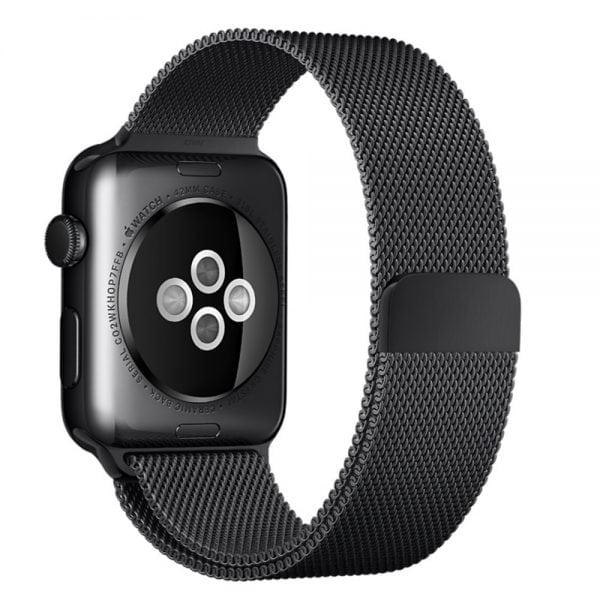 Milanese Loop rvs zwart bandje voor de Apple Watch 42mm-003