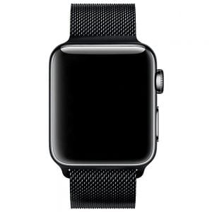 Milanese Loop rvs zwart bandje voor de Apple Watch 42mm-006
