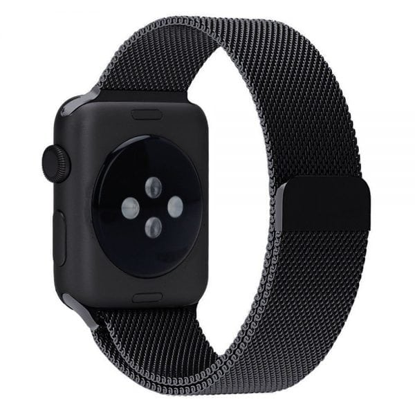 Milanese Loop rvs zwart bandje voor de Apple Watch 42mm-008