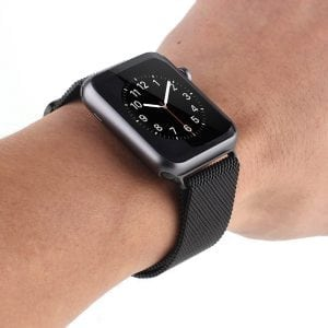 Milanese Loop rvs zwart bandje voor de Apple Watch 42mm-009