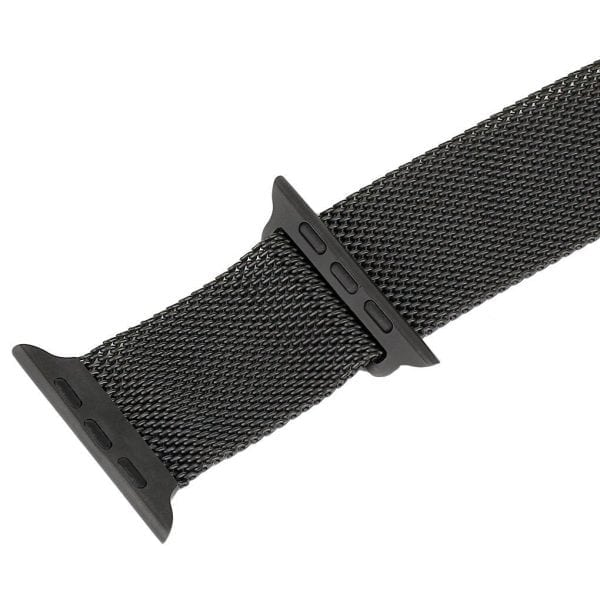 Milanese Loop rvs zwart bandje voor de Apple Watch 42mm-014