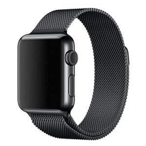 Milanese Loop rvs zwart bandje voor de Apple Watch 42mm