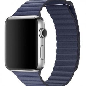 PU leather loop bandje voor de Apple watch 42mm bandje - blauw-008