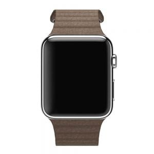 PU leather loop bandje voor de Apple watch 42mm bandje - bruin-001