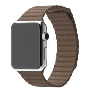 PU leather loop bandje voor de Apple watch 42mm bandje - bruin-006