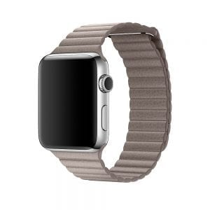 PU leather loop bandje voor de Apple watch 42mm bandje - licht bruin-001