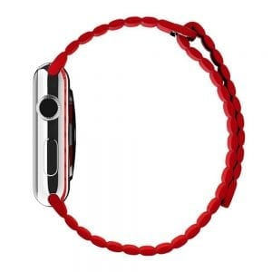 PU leather loop bandje voor de Apple watch 42mm bandje - rood-001