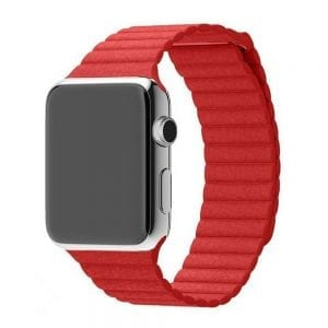 PU leather loop bandje voor de Apple watch 42mm bandje - rood-002PU leather loop bandje voor de Apple watch 42mm bandje - rood-002