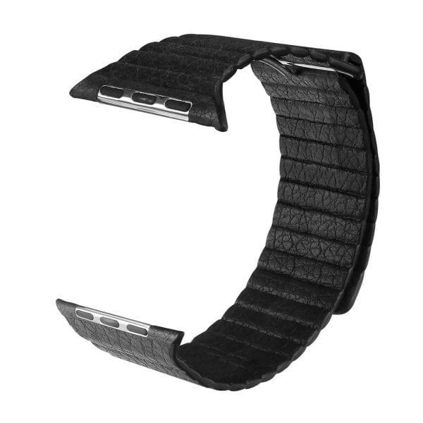 PU leather loop bandje voor de Apple watch 42mm bandje - zwart-001