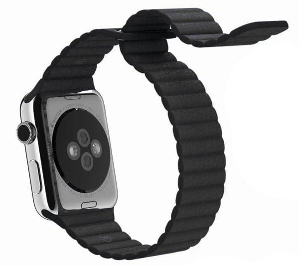 PU leather loop bandje voor de Apple watch 42mm bandje - zwart-002