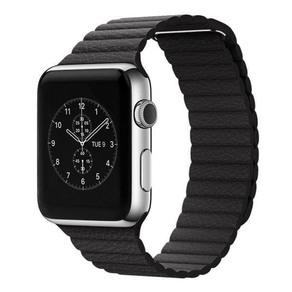 PU leather loop bandje voor de Apple watch 42mm bandje - zwart-004