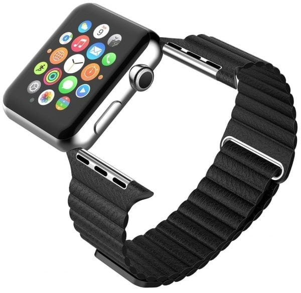 PU leather loop bandje voor de Apple watch 42mm bandje - zwart-005