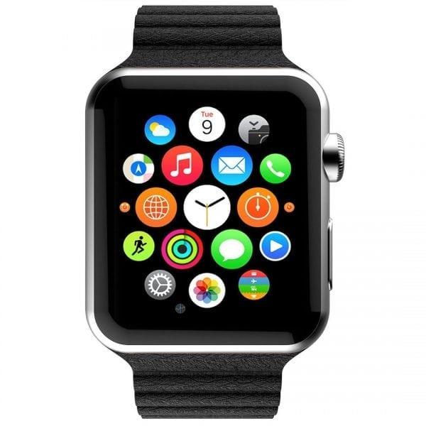 PU leather loop bandje voor de Apple watch 42mm bandje - zwart-006