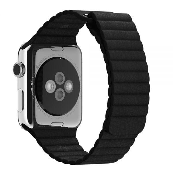 PU leather loop bandje voor de Apple watch 42mm bandje - zwart-008