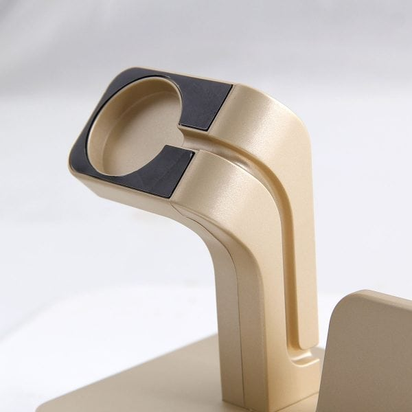 2 in 1 Apple Watch Standaard goud-005