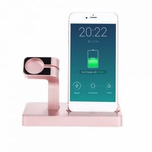 2 in 1 Apple Watch Standaard rose goud-008