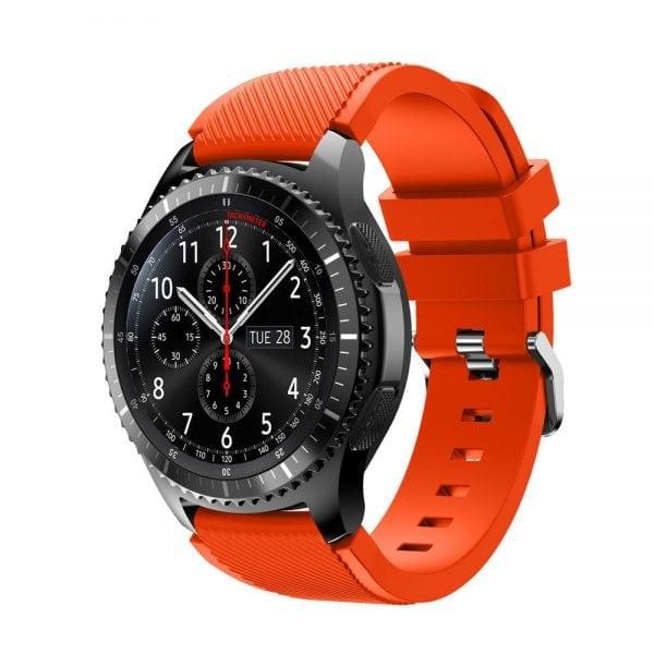 Bandje Voor de Samsung Gear S3 Classic Frontier-oranje-rood-002