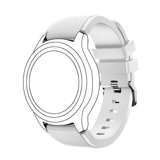 Bandje Voor de Samsung Gear S3 Classic Frontier wit-004