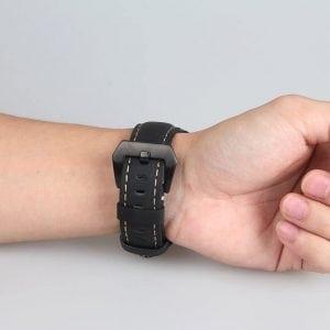 Leren Bandje Voor de Samsung Gear S3 Classic -Frontier-zwart-001
