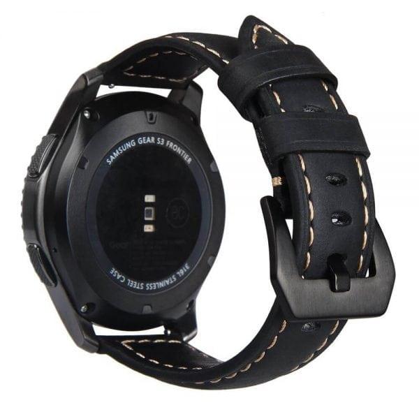 Leren Bandje Voor de Samsung Gear S3 Classic -Frontier-zwart-002