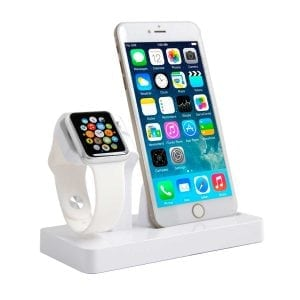 2 in 1 Apple Watch Standaard / Iphone houder voor Apple Watch/ iPhone 6 / 6 Plus /6s / 6s Plus /7 Wit