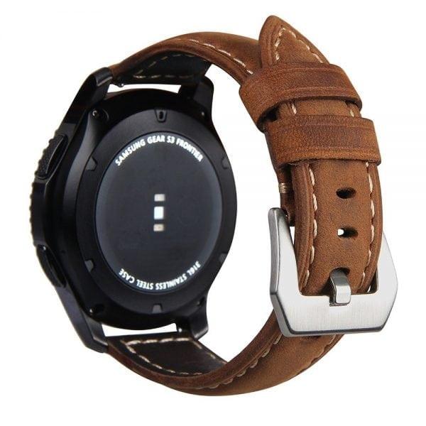 Leren Bandje Voor de Samsung Gear S3 Classic zilveren gesp-002