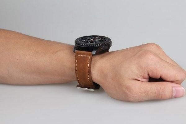 Leren Bandje Voor de Samsung Gear S3 Classic zilveren gesp-007