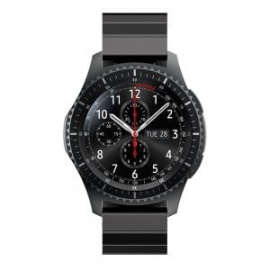 RVS zwart metalen bandje voor de Samsung Gear S3 | Galaxy watch 46mm SM-R800