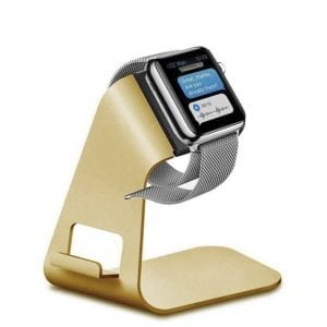 2 in 1 Apple watch stand hoog - goud kleurig-005