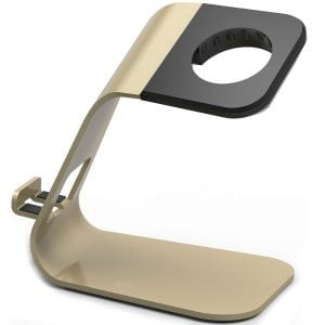 2 in 1 Apple watch stand hoog - goud kleurig-008