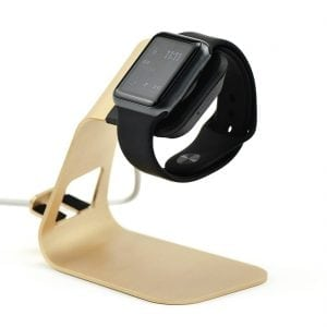 2 in 1 Apple watch stand hoog - goud kleurig-009