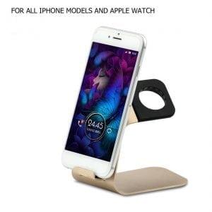 2 in 1 Apple watch stand hoog - goud kleurig-011