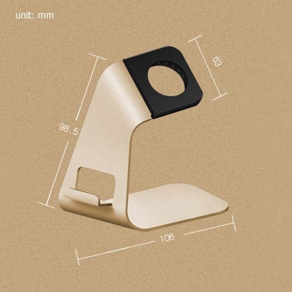 2 in 1 Apple watch stand hoog - goud kleurig-012
