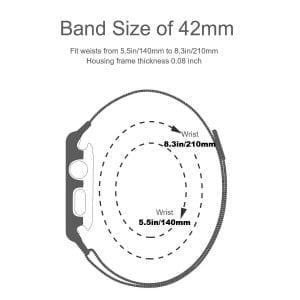 2 in 1 vervangend Apple Watch Band Milanese Loop zilver en cover roestvrij staal vervangende band voor iWatch-001