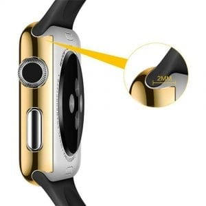 38mm Case Cover Screen Protector Goud 4H Protected Knocks Watch Cases voor Apple watch voor iwatch 2-002