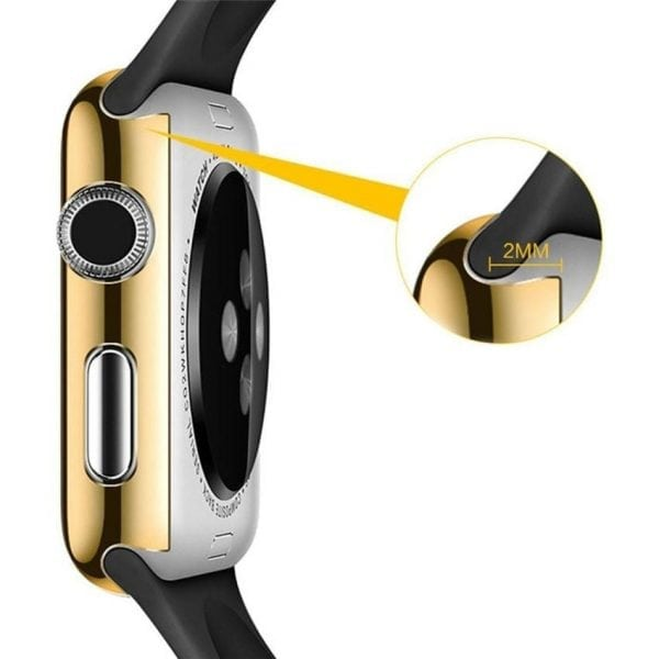 38mm Case Cover Screen Protector Goud 4H Protected Knocks Watch Cases voor Apple watch voor iwatch 2-002
