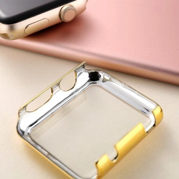 38mm Case Cover Screen Protector Goud 4H Protected Knocks Watch Cases voor Apple watch voor iwatch 2-005