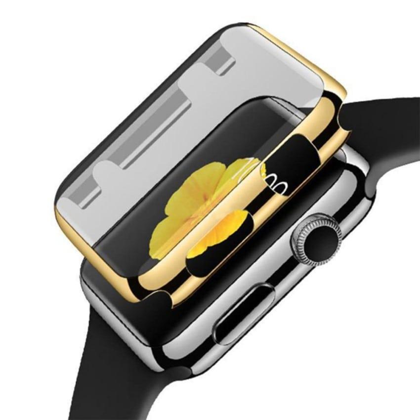 49730499c2e71 38mm Case Cover Screen Protector Goud 4H Protected Knocks Watch Cases voor Apple  watch voor iwatch