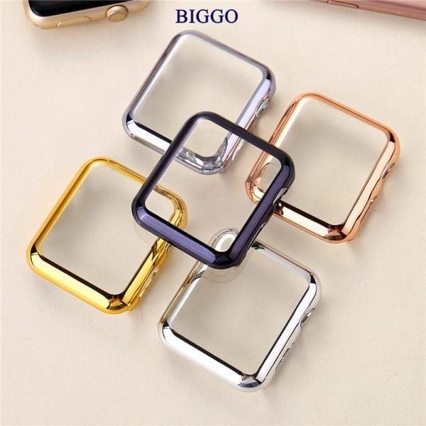 Case Cover Screen Protector Goud 4H Protected Knocks Watch Cases voor Apple watch voor iwatch