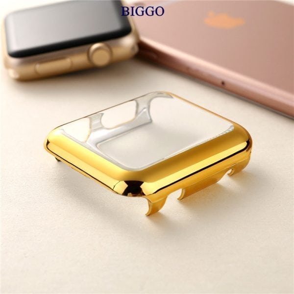 Case Cover Screen Protector Goud 4H Protected Knocks Watch Cases voor Apple watch voor iwatch