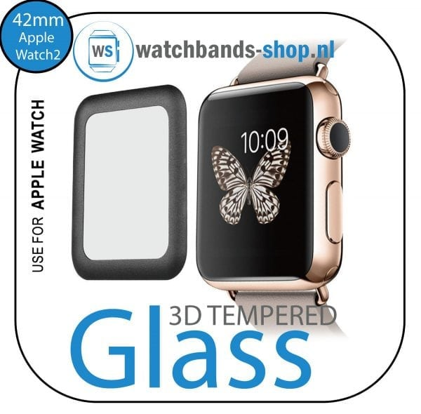 42mm full Cover 3D Tempered Glass Screen Protector For Apple watch iWatch 2 black edge_001