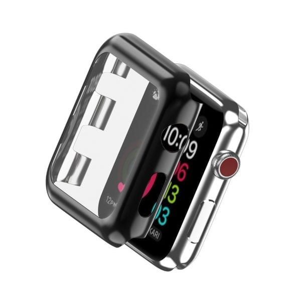 Case Cover Screen Protector zwart 4H Protected Knocks Watch Cases voor Apple watch voor iwatch 2-005