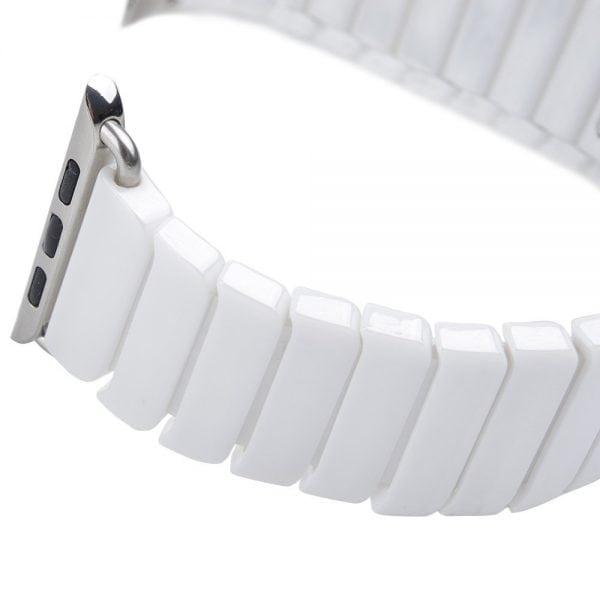 Keramische vervangend bandje voor Apple Watch iwatch Series 1-2-3 42mm wit-002