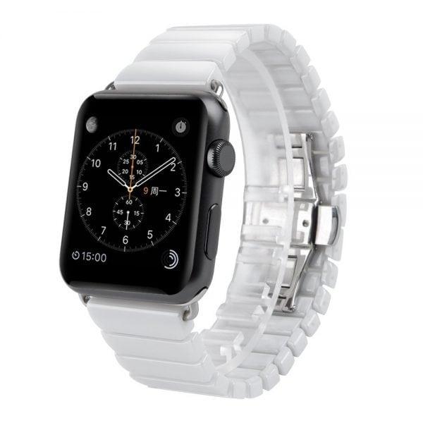 Keramische vervangend bandje voor Apple Watch iwatch Series 1-2-3 42mm wit-006
