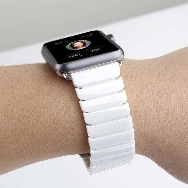 Keramische vervangend bandje voor Apple Watch iwatch Series 1-2-3 42mm wit-008