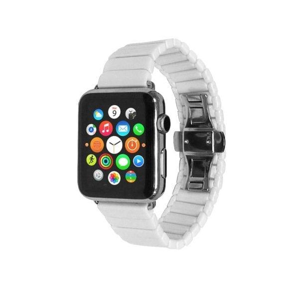 Keramische vervangend bandje voor Apple Watch iwatch Series 1-2-3 42mm wit-009