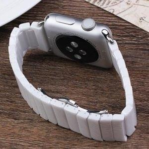 Keramische vervangend bandje voor Apple Watch iwatch Series 1-2-3 42mm wit-010